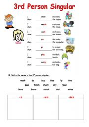 simple present 3rd person singular spelling rules esl worksheet by yiotoula. Black Bedroom Furniture Sets. Home Design Ideas