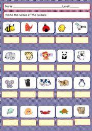 English Worksheets: Animals pictionary second worksheet