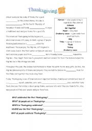 easy history of thanksgiving worksheet esl worksheet by hchapman. Black Bedroom Furniture Sets. Home Design Ideas