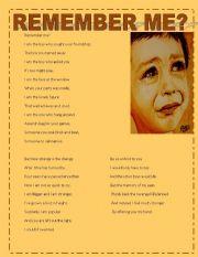 English Worksheets: REMEMBER ME