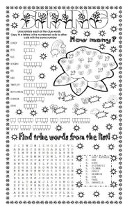 English Worksheet: SPRING (3 DIFFERENT ACTIVITIES)