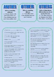 English Worksheet:  ANOTHER, OTHER, OTHERS