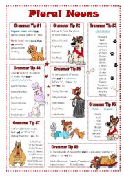 English Worksheet: Plural Nouns