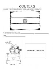English Worksheet: Flag Day (Argentina)