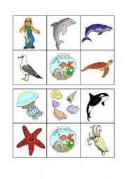English Worksheet: Sea animals bingo - 2 of 3