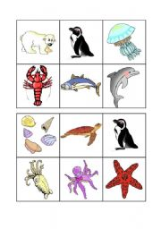 English Worksheet: Sea animals bingo - 3 of 3