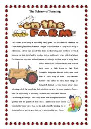 English Worksheets: The Science of Farming