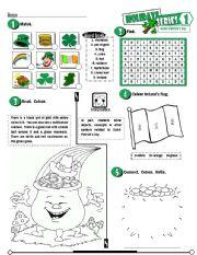 English Worksheet: Holidays Series_01 Saint-Patrick´s Day  (Fully Editable + Key)