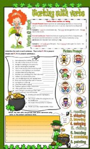 English Worksheet: Simple Present and Present Continuous ** Editable** Answer Key