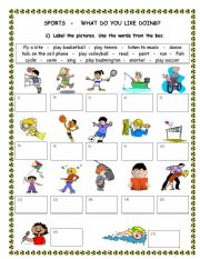 English Worksheets: Like / don´t like / be good at + ing