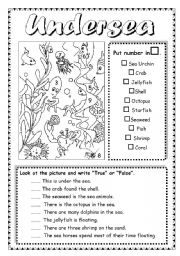 English Worksheets: Undersea