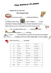 English Worksheet: The History of Pizza