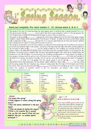 English Worksheet: SPRING SEASON.