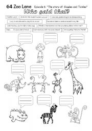 English Worksheets: Giggles and Tickles