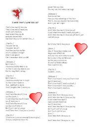 And I Hate That I Love You So Lyrics