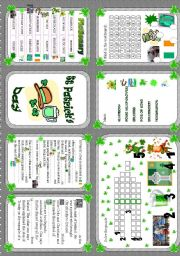 English Worksheets: Saint Patrick´s Day - minibook