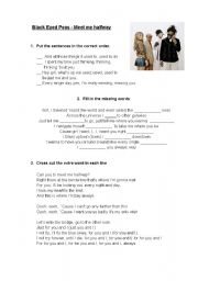English Worksheets: Black Eyed Peas - Meet me halfway