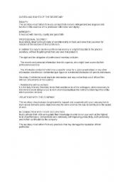 English Worksheets: Duties of the Secretary