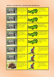 English Worksheets: Australian Animals - Dominoes