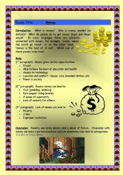 English Worksheets: Essay Writing - Money