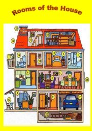 English Worksheet: Rooms of the House