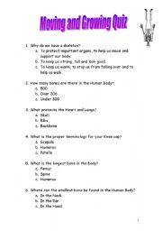 English Worksheets: moving