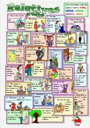 English Worksheet: Relatives (Pronoun and adverbs)
