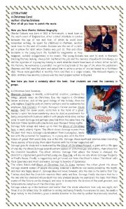 English Worksheet: CHRISTMAS CAROL