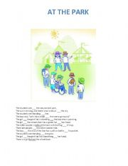 English worksheet: Prepositions at, on, in