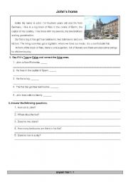 English worksheet: Test and questions