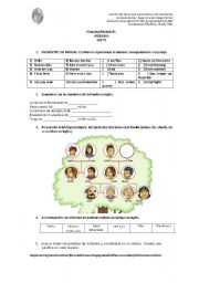 English Worksheets: GREETINGS AND FAMILY