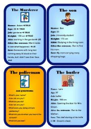 English Worksheets: Murder mystery game