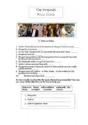 English Worksheets: the proposal -film activity