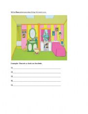 English worksheet describe the room for Describe furniture in your home