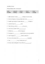 English worksheet: Pre-intermediate vocabulary