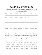 english teaching worksheets word order. Black Bedroom Furniture Sets. Home Design Ideas