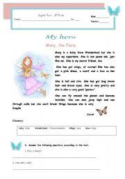 Test - My hero - Mary, the fairy