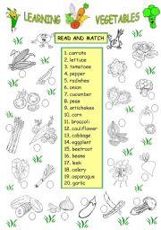 LEARNING VEGETABLES