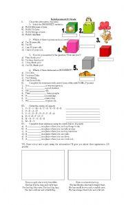 English Worksheets: Worksheet for 6� grade