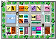 Places in Town and Place Preposition Board Game (part 1)