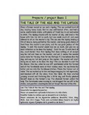 English Worksheets: Exercise for Basic I