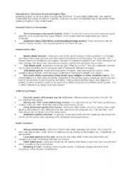 English Worksheets: American TIps