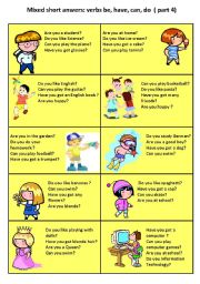 short answer speaking cards 4