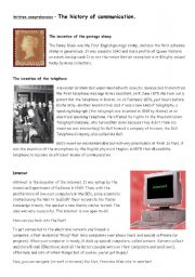 English Worksheets: Text - The history of communication