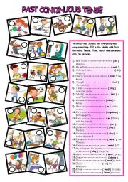 English Worksheets: PAST CONTINUOUS TENSE