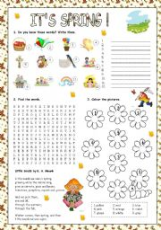 English Worksheets: IT�S SPRING!