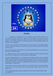 English Worksheet: PASSWORD GAME