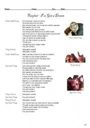 English Worksheet: Tangled - I�ve got a dream