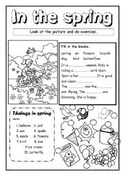English Worksheets: In the spring