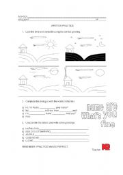 English Worksheets: Introductions and Greetings Review worksheet